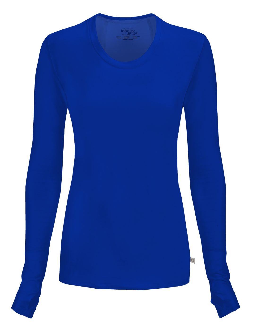 nyps men blue colorblock infinity by neck from uniforms product s cherokee crew top