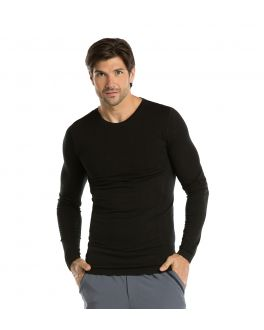 Barco One Scrubs Men's Long Sleeve Knitted Seamless Tee