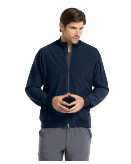 Barco One Scrubs Men's 3 Pocket Bomber Zip Jacket