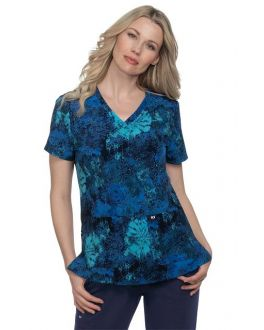 Koi Ikat Floral Rose Early Energy Top