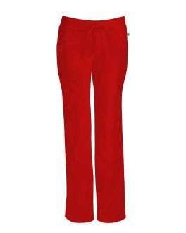 Infinity by Cherokee 1123AT Women's Low-Rise Straight Leg Drawstring Pant