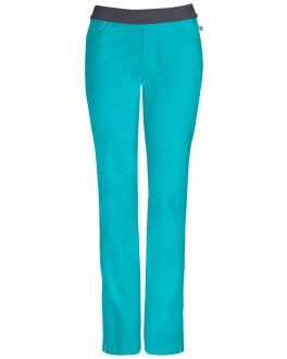 Infinity by Cherokee 1124AT Women's Low-Rise Slim Pull-on Pant