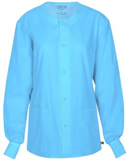 Cherokee WorkWear Flex Scrubs Unisex Snap Front Warm-Up Jacket