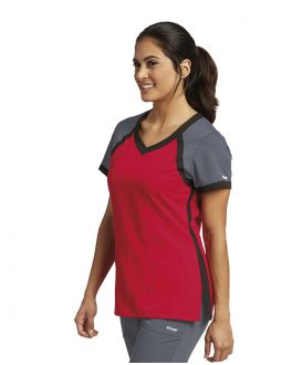 GREY'S ACTIVE 41435 FEMALE 3PKT RAGLAN SCUBA V-NECK