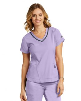 GREY'S ANATOMY IMPACTGREY'S ANATOMY IMPACT 7187 FEMALE 3PKT SEAMED V-NECK