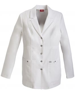 "Dickies Xtreme Stretch 82400 Women's 28"" Snap Front Lab Coat"