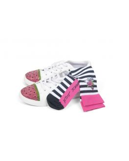Betsey Johnson Scrubs Betsey's Stripe Compression Socks