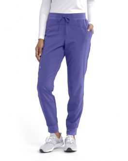 Barco One Scrubs Women's TALL 3 Pocket Elastic Waist Cargo Jogger Pant