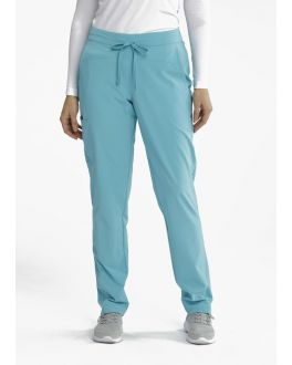 Barco One Wellness Women's PETITE BWP506 4 Pockets Flat Gel Drawcord Cargo Scrub Pant