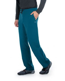 Barco One Wellness Men's TALL 4 Pockets Drawcord Cargo Welt Scrub Pant