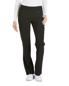 Cherokee iFlex CK002T Women's Mid Rise Moderate Flare Pull-On Pant