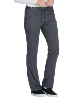 Cherokee Luxe Sport CK003P Women's Low Rise Straight Leg Pull-on Pant