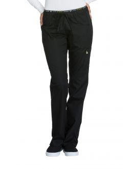Cherokee Luxe Sport CK003T Women's Low Rise Straight Leg Pull-on Pant