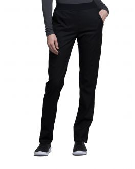 Cherokee Luxe Scrubs Women's PETITE Natural-Rise Tapered Leg Pull On Pants