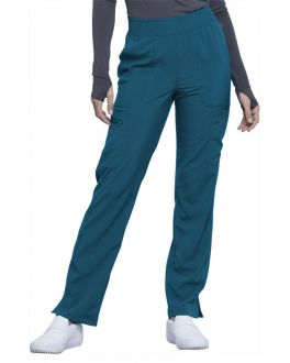 Cherokee Infinity Scrubs Women's TALL Mid Rise Tapered Leg Pull-On Pant