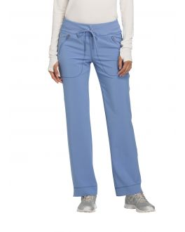 Infinity by Cherokee CK100A Women's Low Rise Slim Straight Drawstring Pant