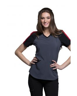 Infinity by Cherokee CK690A Women's V-Neck Top