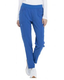 Dickies Advance Scrubs Women's PETITE Mid Rise Tapered Leg Pull-On Pant