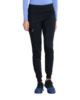 Dickies Scrubs Black Women's TALL Mid Rise Jogger Pant