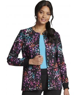 Dickies Caring Space Print Snap Front Warm-Up Jacket