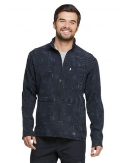 Dickies Labyrinth Men's Zip Front Warm-Up Print Scrub Jacket