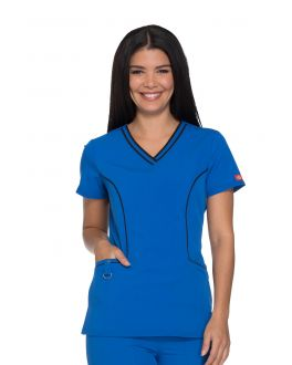 Dickies Xtreme Stretch DK715 Women's V-Neck Top