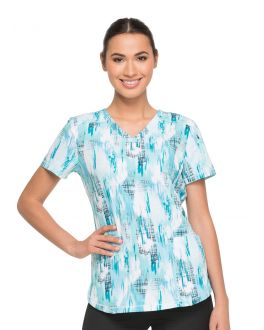 Dickies Washed Up Tropical Oasis V-Neck Print Scrub Top