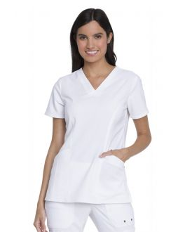 Dickies Advance Scrubs Women's V-Neck Top With Patch Pockets