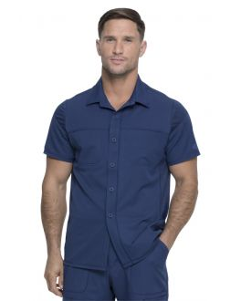 Dickies Dynamix Scrubs Men's Button Front Collar Shirt