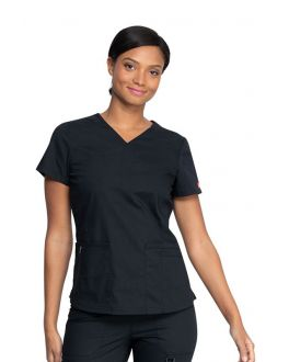 Dickies Scrubs EDS Black Women's V-Neck Top