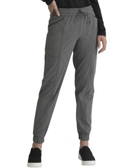 Elle Medical Scrubs Women's PETITE Mid Rise Jogger Pant