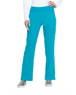 Elle Scrubs Simply Polished Women's TALL Mid Rise Straight Leg Pull-On Pant