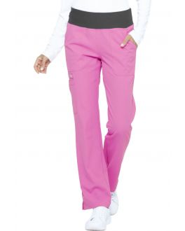 Elle Scrubs Simply Polished Women's Mid Rise Straight Leg Pull-On Pant