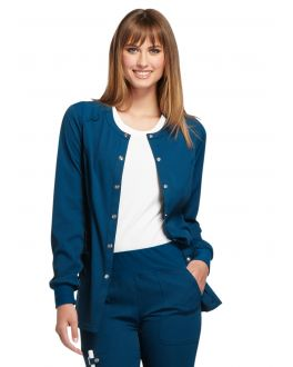 Elle Scrubs Simply Polished Women's Snap Front Warm-Up Jacket