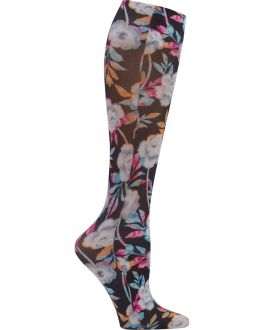 Cherokee Colorful Blooms Knee High 12 mmHg Compression Sock