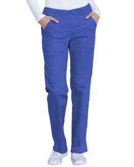 Dickies Genuine Scrubs Women's PETITE Mid Rise Straight Leg Drawstring Pant