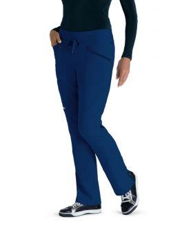 Greys Anatomy Impact Scrubs Women's PETITE Drawcord Knit Waist Pant