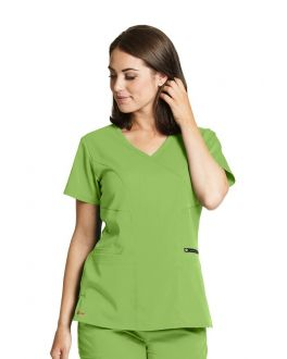 Grey's Anatomy Scrubs Women's 3 Pockets Surplice Princess V-Neck Top