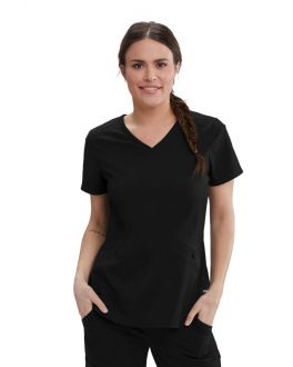 Greys Anatomy Scrubs Women's V-Neck Princess Top
