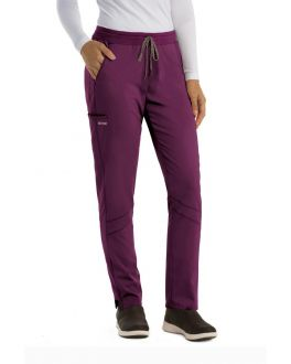 Grey's Anatomy Active Scrubs Women's TALL Spandex Stretch 4 Pocket Knit Waist Pants