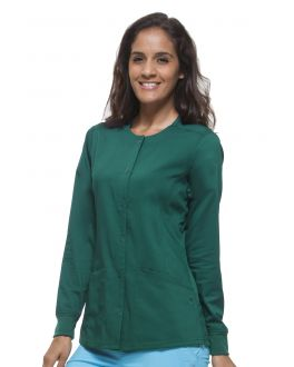 Healing Hands Scrubs Daisy Women's Button Closure Jacket