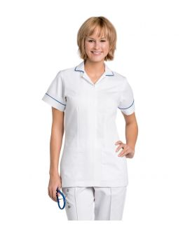 Landau Scrubs Women's Piping On Sleeve And Colar Student Top