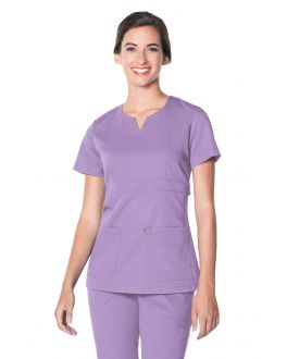 Urbane Scrubs Women's Leah Empire Notch Neck Top