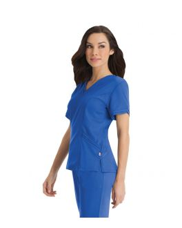 Urbane Scrubs Women's Ella Double V-Neck Top