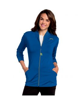 Urbane Scrubs Women's Kristen Knit Zip Front Warm-Up Jacket
