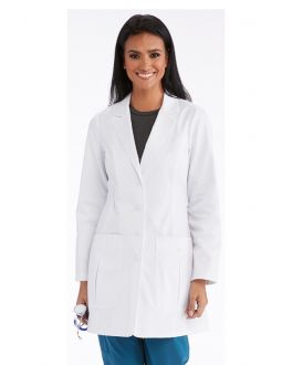 "Barco One Scrubs Team Women's White 34"" 2 Pockets Lab Coat"