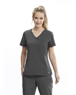 Motion By Barco Scrubs Women's 3 Pocket Surplice Neck Top