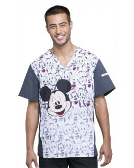 Tooniforms Mickey and Friends Men's V-Neck Top