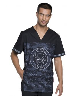Tooniforms Wakandan Warrior Men's V-Neck Top