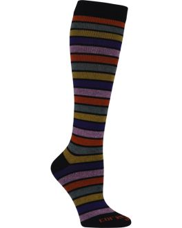 Knit-Rite TFCS116 Women's Colored Stripes 10-15Hg Light Support Sock
